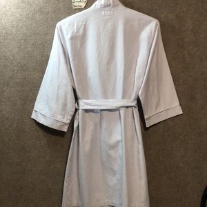 MISS ELAINE Intimates & Sleepwear - NWOT LIGHT BLUE ROBE MISS ELAINE SZ. LG. EMB.